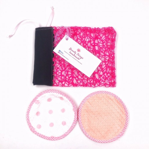 Set Pad Struccanti per Pelli Grasse e Miste  2 in 1 lavabili Beauty Things Handmade