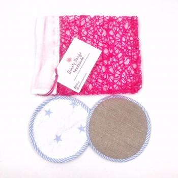 Set Pad ecologici Struccanti per Pelli Sensibili 2 in 1 lavabili - Beauty Things Handmade