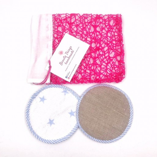 Set Mini Pad speciali 2 in 1 lavabili per la rimozione del Make-Up Beauty Things Handmade
