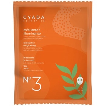 Maschera Esfoliante / Illuminante in Cellulosa - Gyada Cosmetics