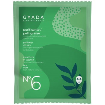 Maschera Purificante / Pelli Grasse in Cellulosa - Gyada Cosmetics