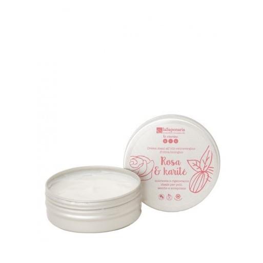 Crema mani rosa e karité - La Saponaria