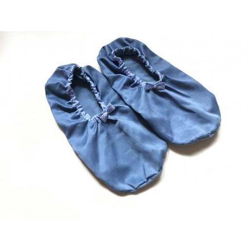 Calzini per impacchi ai piedi in cupro/cotone Azzurro Polvere - Beauty Things Handmade