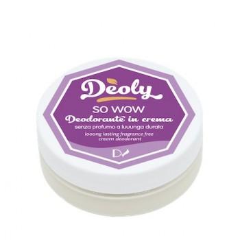 SO WOW Deodorante naturale in crema senza profumazione - Deoly