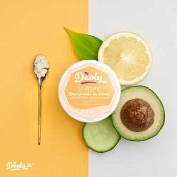 SO YOUNG Deodorante naturale in crema, per l'acidità delle giovani ascelle - Deoly