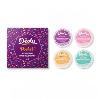 Deoly Pocket - set 4 travel size deodoranti naturali assortiti - Deoly