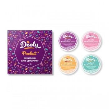 Deoly Pocket - set 4 travel size deodoranti naturali assortiti - Deoly