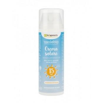 Crema solare alta protezione SPF 15 - La Saponaria