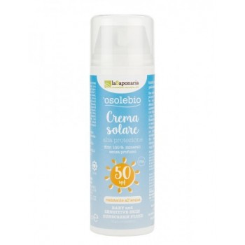 Crema solare alta protezione bimbi e pelli sensibili SPF 50 La Saponaria