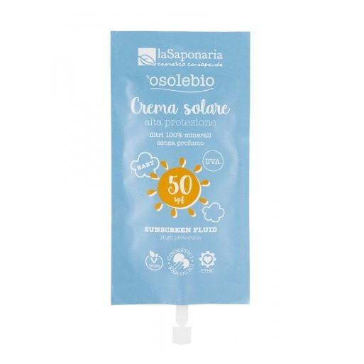 Travel size Crema solare alta protezione SPF 50 bimbi e pelli sensibili - La Saponaria