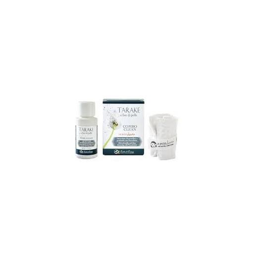 Combo Clean Pezzolinda : Olio Struccante Pure Clean + Lavetta viso - Latte e Luna