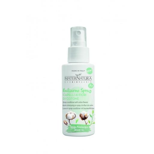 Balsamo Spray Capelli ai Fiori di Cotone - Maternatura