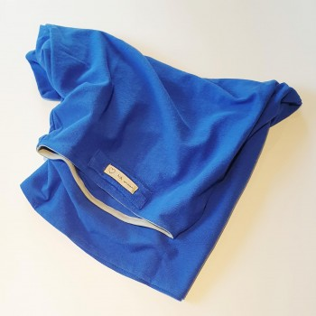 Towel T-Shirt Blu telo asciugacapelli - Naturangi Headwear