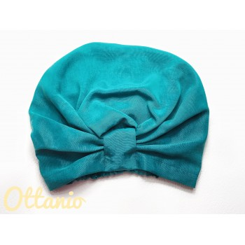 Turbante Eco Luxury Ottanio in Cupro e Viscosa - Beauty...